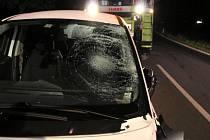 Místo havárie mezi Zábřehem a obcí Libivá, kde peugeot při předjíždění kombajnu smrtelně zranil protijedoucí cyklistku