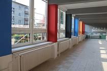 Rekonstruovaná jídelna základní školy Vrchlického v Šumperku.