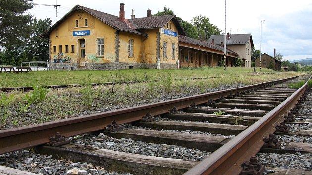 Železniční stanice Vidnava v roce 2016.