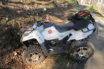 Nehoda čtyřkolky u Malé Moravy