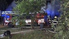 Požár rodinného domu v Hynčině