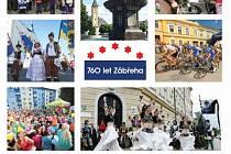Titulní strana Ročenky města Zábřeha za rok 2014.