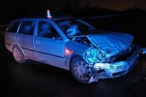 Nehoda škodovek u Zábřehu - úterý 10. listopadu 2020