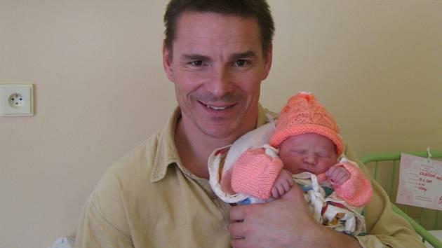 Anežka Koláčková s tatínkem, 16. 2, 2009, Olšany