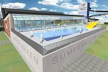 Vizualizace budoucí podoby bazénu v Šumperku