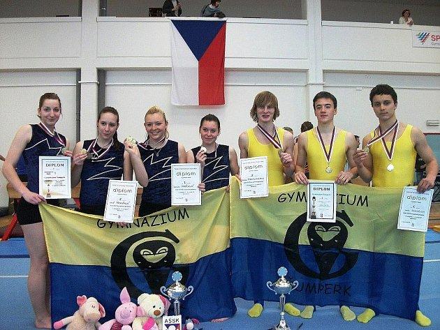 Šumperská výprava na gymnastickém finále v Liberci