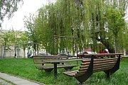 Vnitroblok v ulici Palackého v Šumperku.