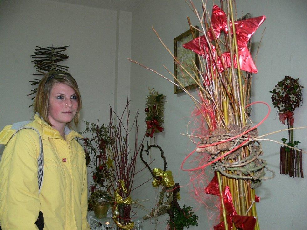 Vánoční výstava ve Střední škole sociální péče a služeb v Zábřehu.