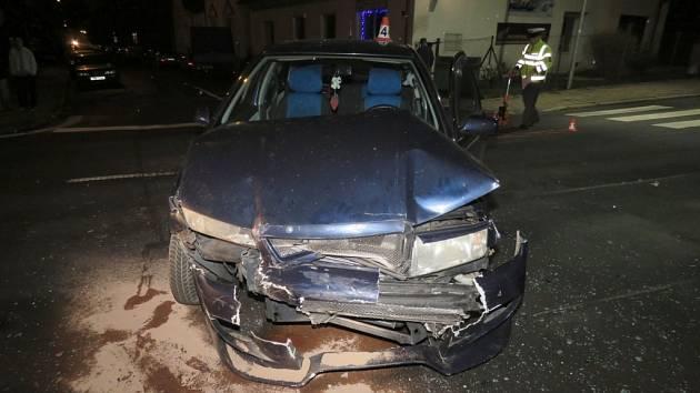 Nehoda v šumperské Revoluční ulici