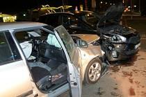 Nehoda na křižovatce v Šumperku