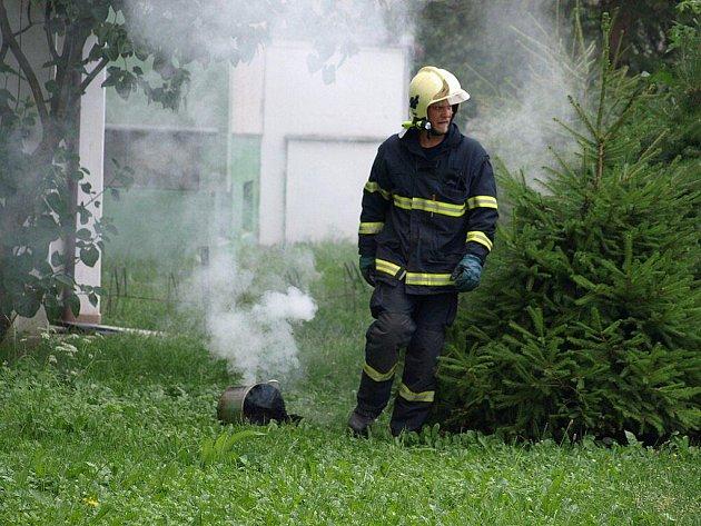 Snímky z požáru bytu v ulici Jugoslávská v Šumperku z úterý 20. července