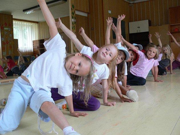 Děti v akci na tanečním táboře DDM Zábřeh
