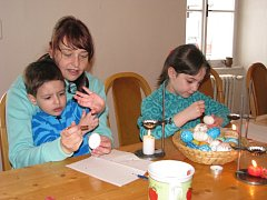 Velikonoční dílnu připravilo na Zelený čtvrtek Vlastivědné muzeum v Šumperku.
