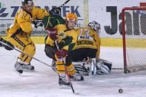 Draci (žluté dresy) podlehli i podruhé v semifinále 2. ligy Vsetínu