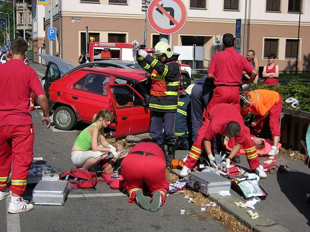 Tragická nehoda v Šumperku.