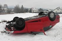 Řidič ze Šumperku havaroval ve Velkých Losinách.