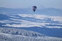 Letecký provoz nad Pradědem, neděle 14. února 2021