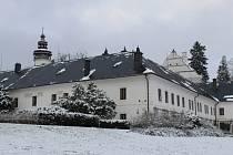 Velké Losiny pod sněhem