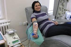 Dárkyně při odběru krve - ilustrační foto.
