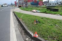 Nehoda vozíku v Jesenické ulici v Šumperku