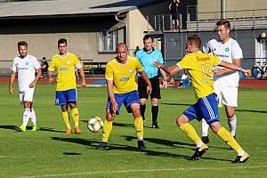 Fotbalisté Šumperku (ve žlutém) Ilustrační foto