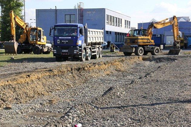 Stavba parkoviště pro zaměstnance Siemensu Mohelnice.