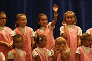 První koncert Růžových dětí dětského pěveckého sboru Motýli Šumperk 1. listopadu 2014.