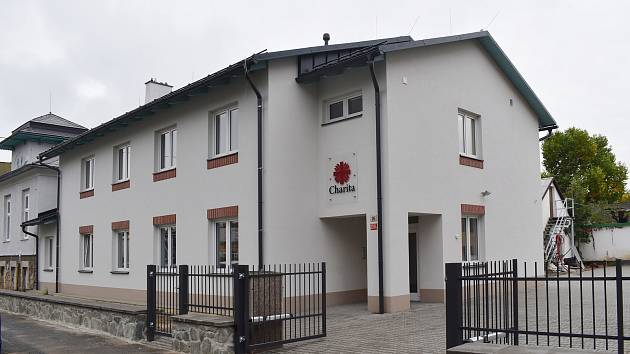 Nová budova Charity Šumperk.