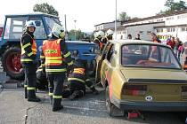 Taktické cvičení hasičů, policie a zdravotníků se konalo v Jesenické ulici v Šumperku