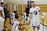 Šumperští florbalisté v nedělním zápase s Orlovou