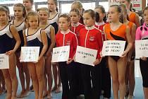 Šumperské gymnastky v Bučovicích