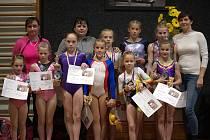 Šumperské gymnastky na závodech v Pardubicích