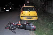 V obci Hrabová havaroval na motorce 26letý muž. Policie mu naměřila 2,4 ‰ alkoholu.