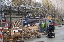 Rekonstrukce kanalizace v Temenické ulici v Šumperku.