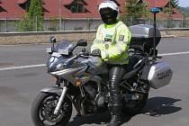 Policejní motocykl začali policisté požívat na Jesenicku.