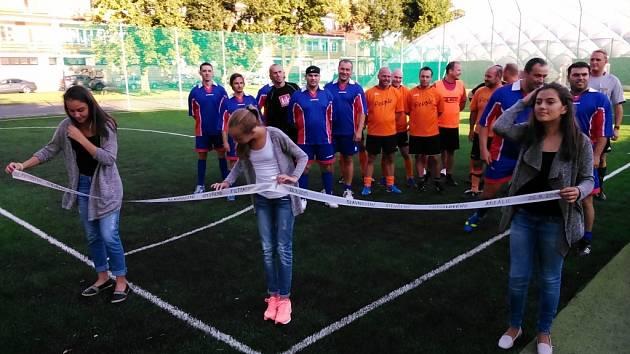 Otevření opraveného futsalového hřiště v areálu Tyršova stadionu v Šumperku.