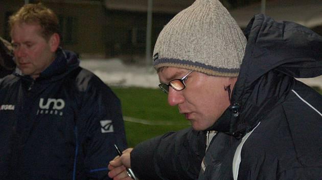 Trenér Zábřehu Jiří Balcárek během utkání