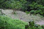 Následky bleskové povodně po přívalovém dešti v Jedlí, stav v pondělí 2. září 2019.