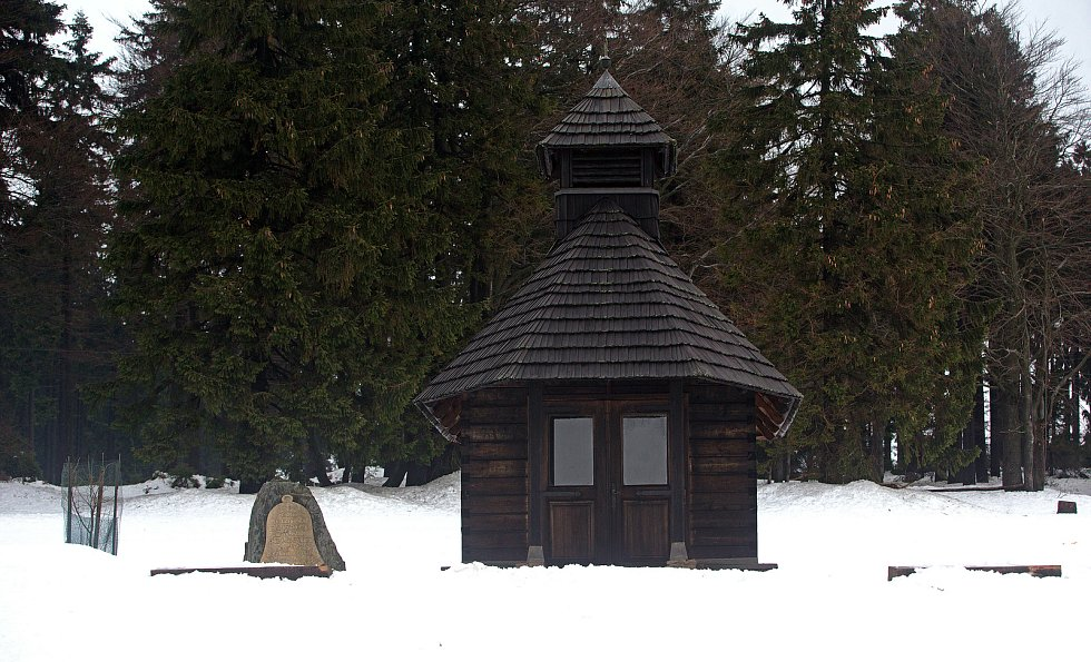 Chata Paprsek v Jeseníkách.