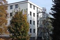 Bývalá krizová nemocnice, budoucí Alzheimercentrum v Zábřehu v současné podobě.