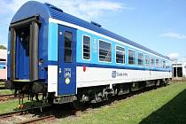 Interiér vozu řady Bdpee, který prošel modernizací v šumperské firmě Pars nova. Budou vozit cestující na linkách z Prahy do Budapešti, Lince a Železné Rudy.