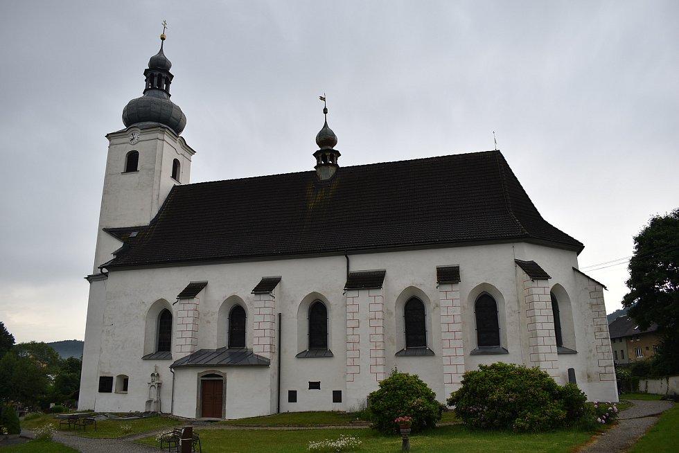 Kostel svatého Vavřince v Sobotíně.