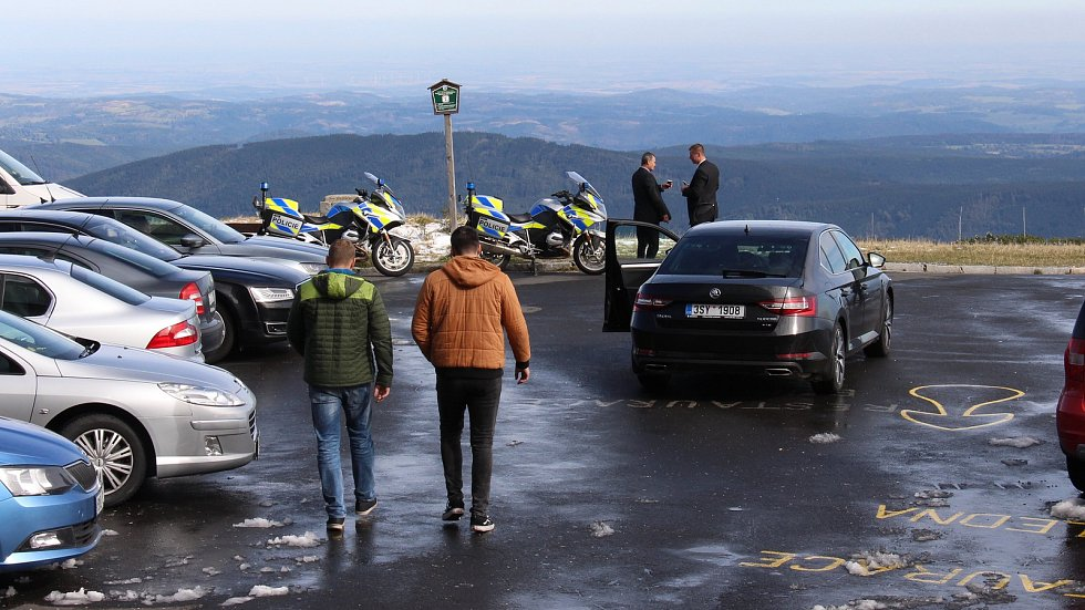 Návštěva prezidenta Miloše Zemana na Pradědu.