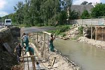 Výstavba nových mostů v Bernarticích na Jesenicku
