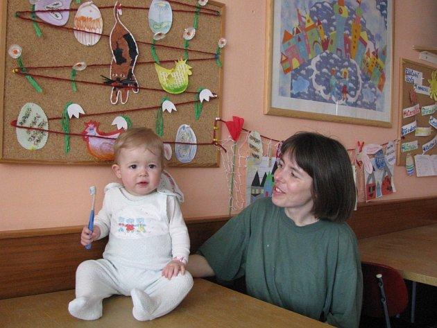 Jeden z pacientů dětského oddělení nemocnice v Šumperku