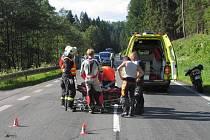 Nehoda motorkářů