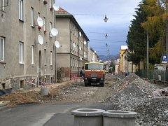 Rekonstrukce Vančurovy ulice v Šumperku. Ilustrační foto.