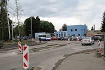 Křižovatka u šumperského Parsu.