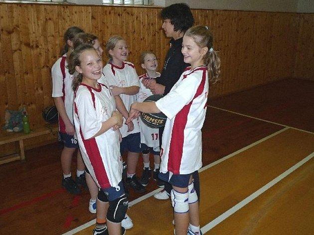 Šumperské minibasketbalistky