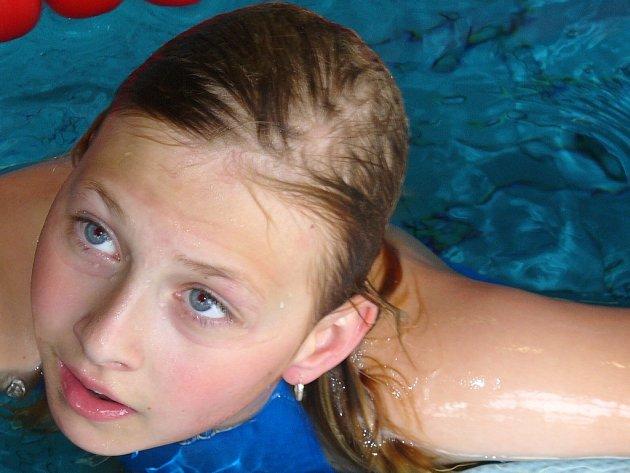 Zábřežská plavkyně Hana Horvátová.